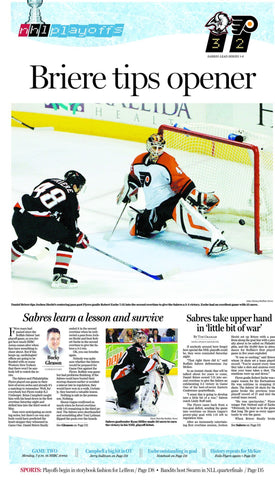 Briere tips opener- April 23, 2006