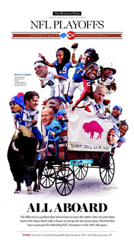 """Circle the Wagons"" NFL Playoffs Front-Page Poster"