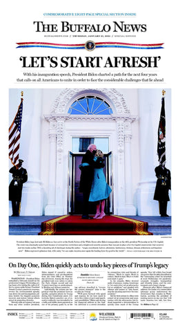 Inauguration Commemorative Front-page Poster