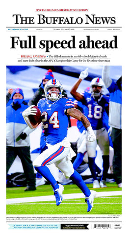 Full speed ahead - Commemorative Playoff Front-Page Poster
