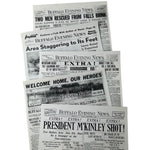 5 Pack Historic Headline Front Page Poster