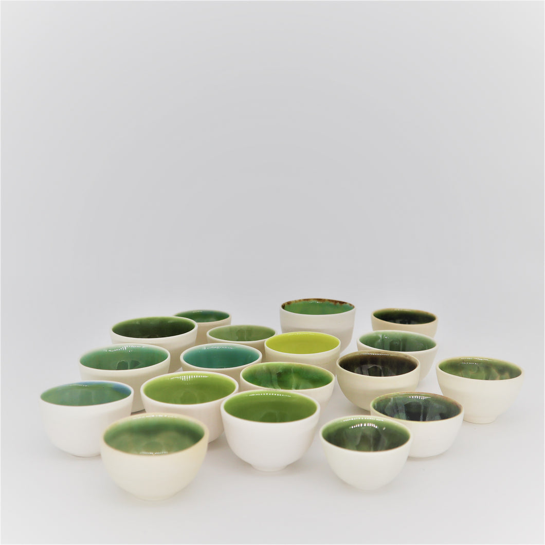 Green and very tiny bowls