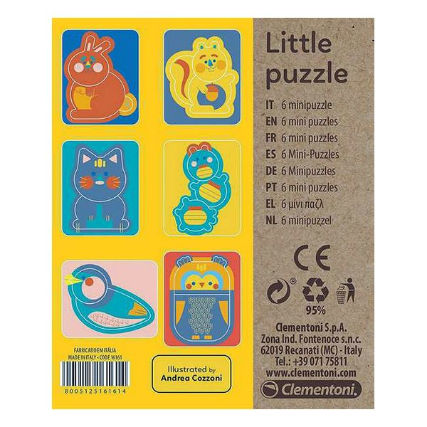 Puzzle for Bambini Animals Puzzles Clementoni (7 x 14,5 x 16,5 cm)