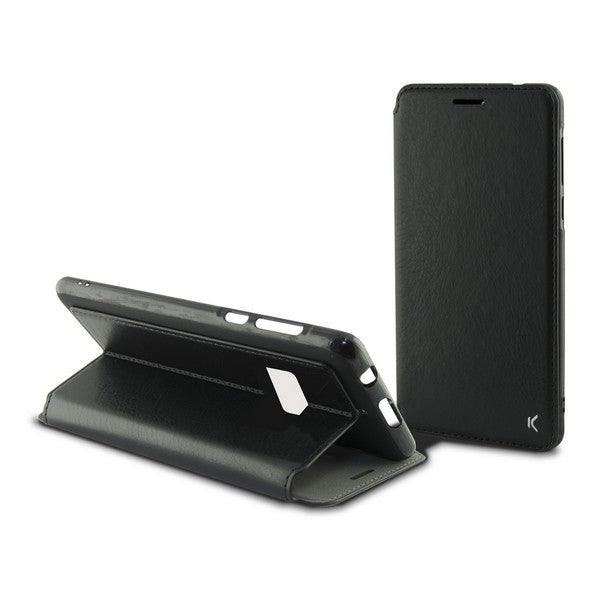 Custodia Folio per Cellulare Aquaris U2 Flex Nero - SPOTOSHOP