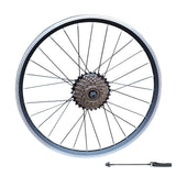 "QR 20"" Folding Bike REAR Wheel Shimano 6/7 Speed V Brake Double Wall Rim"