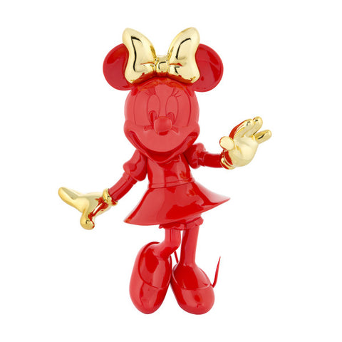 Sculpture Minnie Welcome 30cm Figurine Red & Gold LeblonDelienne - Play Offside