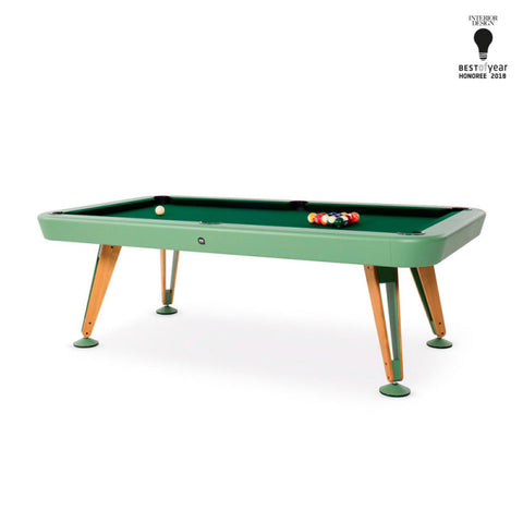 "Pool Table Diagonal Design Indoor Pool Table 8"" Green RS Barcelona - Play Offside"