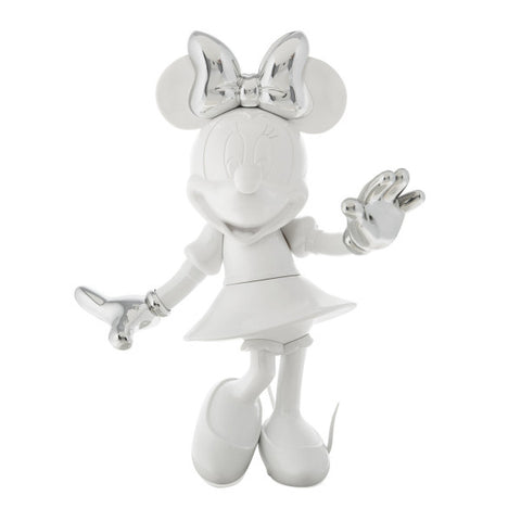 Sculpture Minnie Welcome 30cm Figurine White & Silver LeblonDelienne - Play Offside