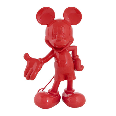 Sculpture Mickey Welcome 30cm Figurine Lacquered Red LeblonDelienne - Play Offside