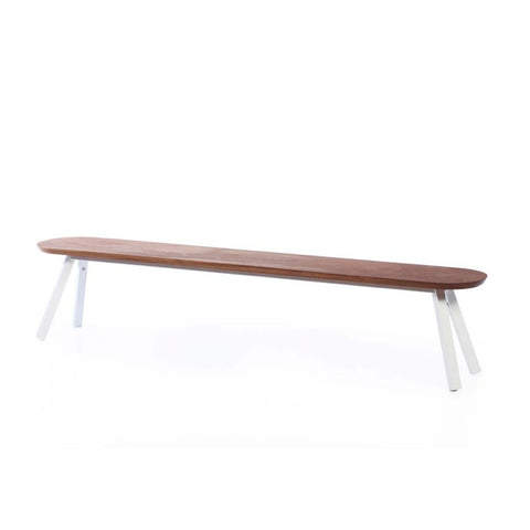 Bench You and Me Bench & Stool 220 / White & Iroko Wood RS Barcelona - Play Offside