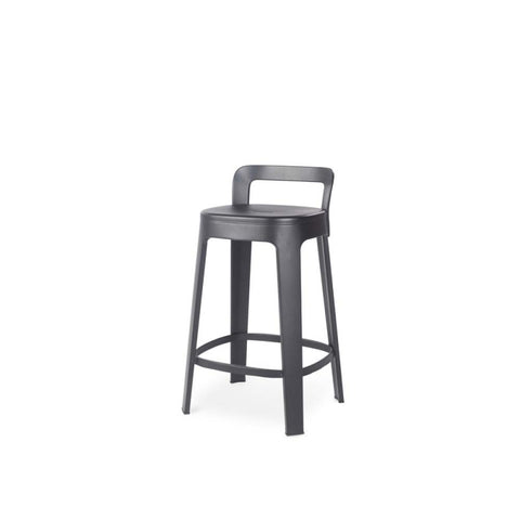 Stool Ombra Stool Medium With backrest / Black RS Barcelona - Play Offside