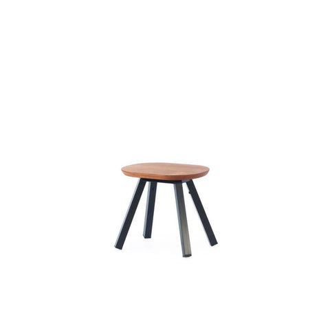 Bench You and Me Bench & Stool 50 / Black & Iroko Wood RS Barcelona - Play Offside