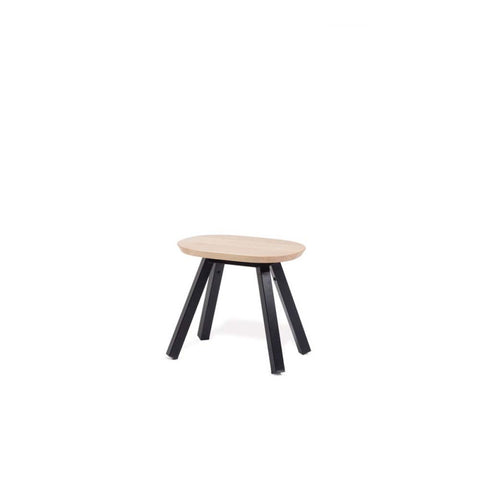 Bench You and Me Bench & Stool 50 / Black & Oak Wood RS Barcelona - Play Offside