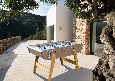 Football Table Outdoor Wood and Metal Sturdy Football Table Stella - Play Offside