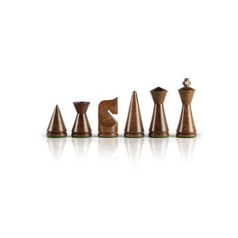 Chess Pieces Modern Style and Design Wooden Chess Pieces Manopoulos - Play Offside