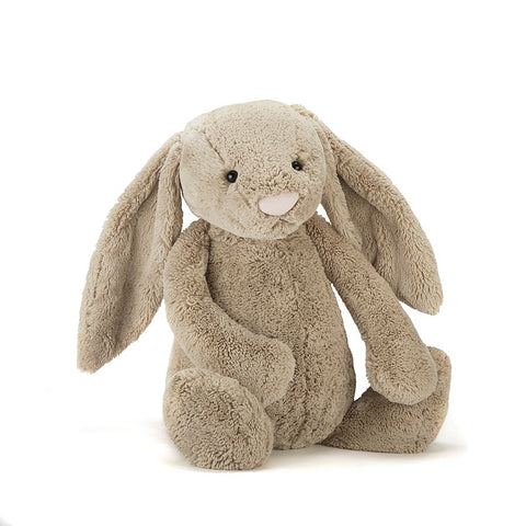 Teddybear Bashful Beige Official Bunny Teddybear Suitable from Birth XL Jellycat - Play Offside