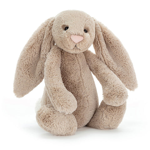 Teddybear Bashful Beige Official Bunny Teddybear Suitable from Birth L Jellycat - Play Offside