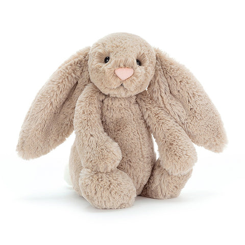Teddybear Bashful Beige Official Bunny Teddybear Suitable from Birth M Jellycat - Play Offside