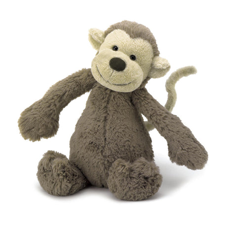 Teddybear Bashful Monkey Beautiful Baby Teddybear Suitable from Birth M Jellycat - Play Offside