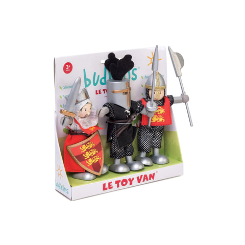 Child Toy Figurines Set of 3 Crusaders Knights Gift Pack Suitable from 3 years old Le Toy Van - Play Offside