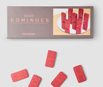 Domino Set Simple Domino Set Made from Red Colour Wood Pieces PrintWorksMarket - Play Offside