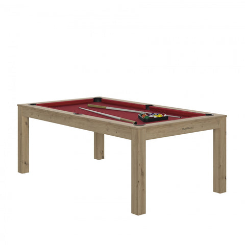 Pool Table Charme Pool Table Oak sanded / Red / WithTop Rene Pierre - Play Offside