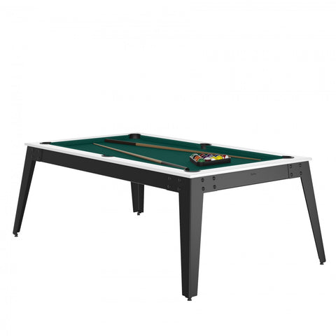 Pool Table Steel Pool Table white / grey / Green Cloth / With Top Rene Pierre - Play Offside