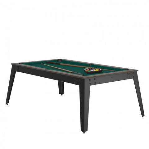 Pool Table Steel Pool Table Anthracite / grey / Green Cloth / With Top Rene Pierre - Play Offside