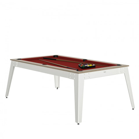 Pool Table Steel Pool Table Oslo / white / Red Cloth / With Top Rene Pierre - Play Offside