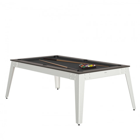 Pool Table Steel Pool Table Anthracite / white / Grey Cloth / With Top Rene Pierre - Play Offside