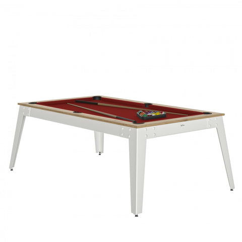 Pool Table Steel Pool Table Oslo / white / Red Cloth / Without Top Rene Pierre - Play Offside