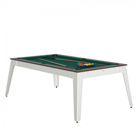 Pool Table Steel Pool Table Anthracite / white / Green Cloth / With Top Rene Pierre - Play Offside