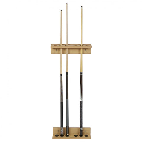 Cue Rack Elegant Design Cue Holder Wall Fixed Oak Wood Rene Pierre - Play Offside