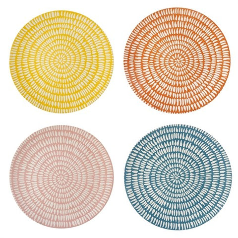 Plate Handpainted Set of 4 Dinner Plates Seeds Pols Potten - Play Offside