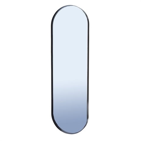 Mirror Pill Shaped Black Mirror with Smoked Grey Glass Mirror Pols Potten - Play Offside