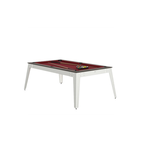 Pool Table Steel Pool Table Anthracite / white / Red Cloth / With Top Rene Pierre - Play Offside