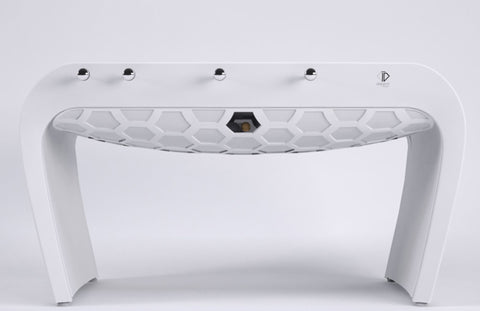 Football Table Blackball Contemporary White Design Football Table Long White Grip Debuchy By Toulet - Play Offside
