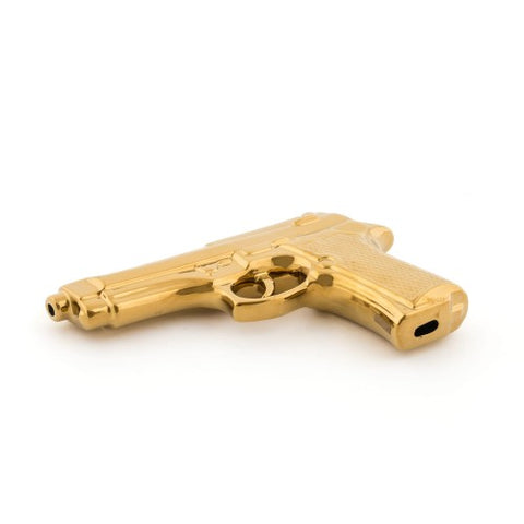 Object Gun Made from Fine Porcelaine Available in 2 Colours Gold Seletti - Play Offside