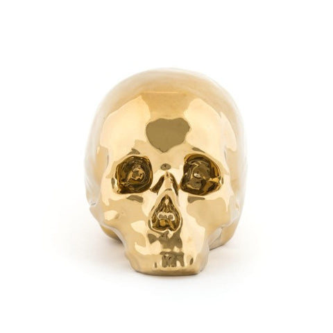 Object Golden Skull Made from Fine Porcelaine Seletti - Play Offside
