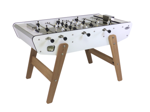 Football Table Outdoor Wood and Metal Sturdy Football Table White Stella - Play Offside