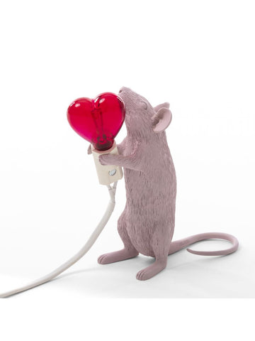 Lamp Mouse Lamp with Heart Lightbulb Seletti - Play Offside