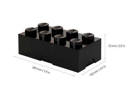 Child Storage Box Giant LEGO Storage Brick 8 Available in 2 Colours Black Room Copenhagen - Play Offside
