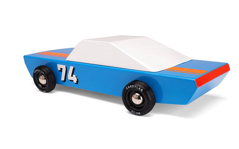 Car Toy Blue 74 Wooden Racing Car Candylab - Play Offside