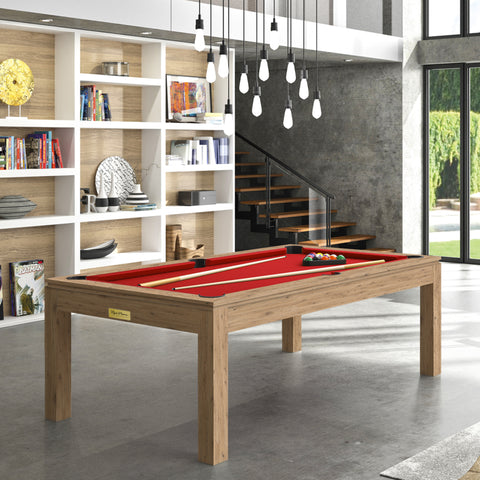 Pool Table Billiard Horizon Pool Table Oak Wood / Red Rene Pierre - Play Offside