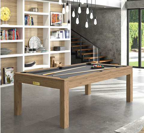Pool Table Billiard Horizon Pool Table Oak Wood / Grey Rene Pierre - Play Offside