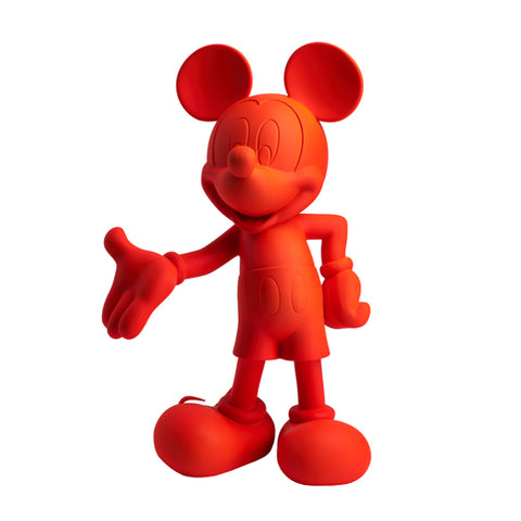 Sculpture Mickey Welcome 30cm Figurine Fluo Red LeblonDelienne - Play Offside