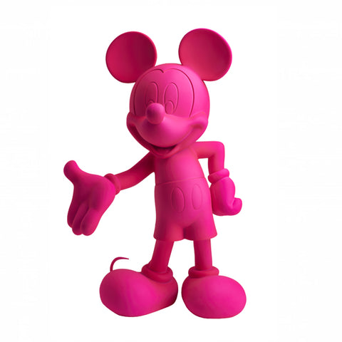 Sculpture Mickey Welcome 30cm Figurine Fluo Pink LeblonDelienne - Play Offside