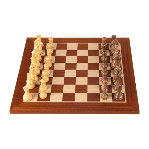 Chess Set Mahogany Wood Chess set 40 cm Board and Staunton Chessmen 8.5 cm king Manopoulos - Play Offside