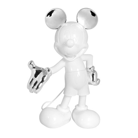 Sculpture Mickey Welcome 30cm Figurine White & Silver LeblonDelienne - Play Offside