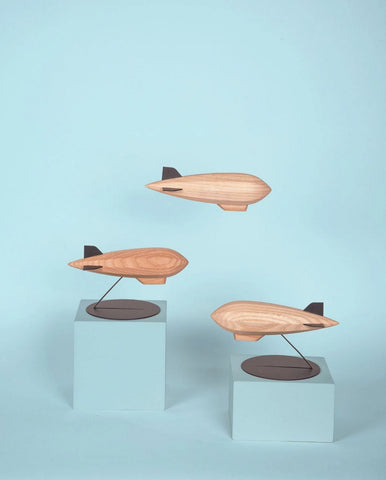 Object Wooden Zeppelin Sculpture Madlab - Play Offside